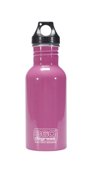 360° degrees Stainless Drinkfles 550ml roze